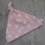 Picture of roze knoopmuts Voetjes