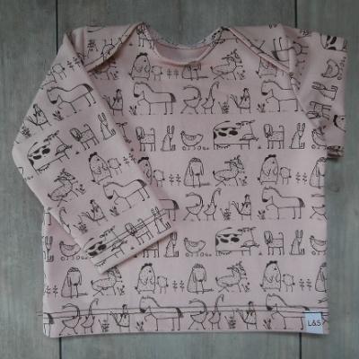 Picture of roze shirt Boerderijdieren